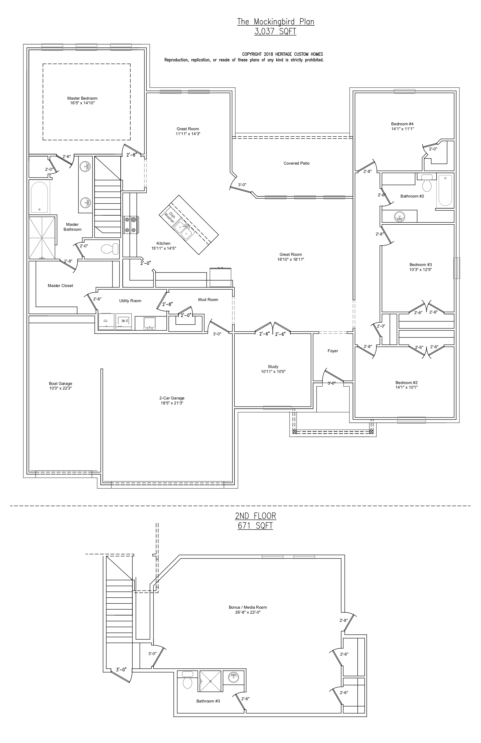 The Mockingbird Floorplan